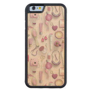 Pink Vanity Table Carved Maple iPhone 6 Bumper Case