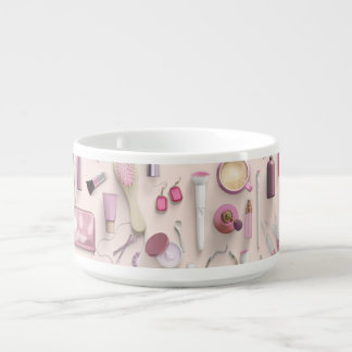 Pink Vanity Table Chili Bowl