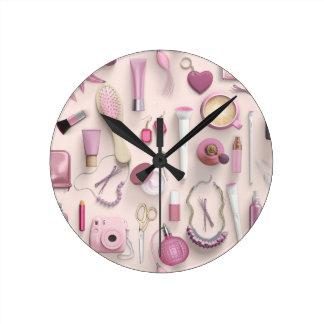 Pink Vanity Table Clocks