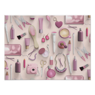 Pink Vanity Table Poster
