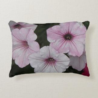 Pink Vein Shockwave Petunias Decorative Pillow