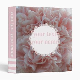 Pink velvet flowers Mallow Binder