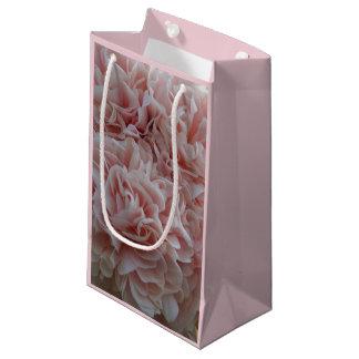 Pink velvet flowers Mallow Small Gift Bag