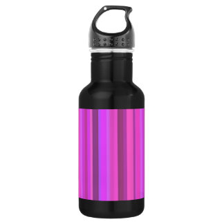 Pink vertical stripes 532 ml water bottle