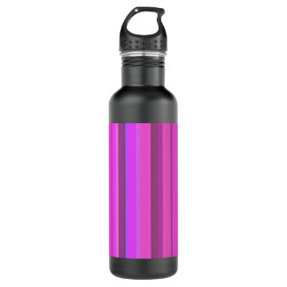 Pink vertical stripes 710 ml water bottle