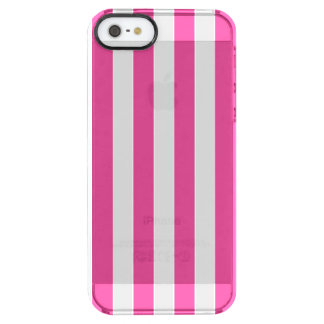 Pink Vertical Stripes Clear iPhone SE/5/5s Case