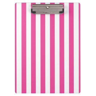 Pink Vertical Stripes Clipboard