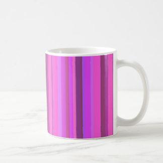 Pink vertical stripes coffee mug