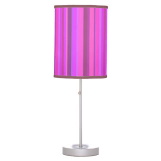 Pink vertical stripes desk lamp