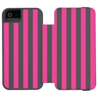 Pink Vertical Stripes Incipio Watson™ iPhone 5 Wallet Case