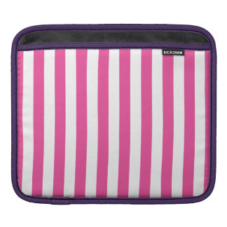 Pink Vertical Stripes iPad Sleeve