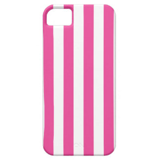 Pink Vertical Stripes iPhone 5 Cases