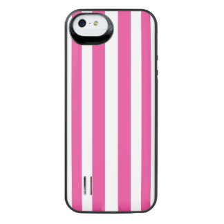 Pink Vertical Stripes iPhone SE/5/5s Battery Case