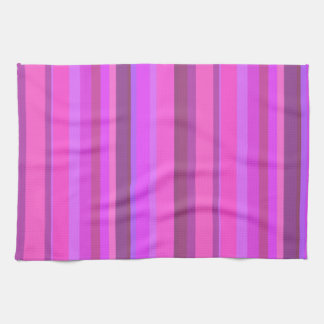 Pink vertical stripes kitchen towel