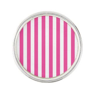 Pink Vertical Stripes Lapel Pin