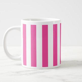 Pink Vertical Stripes Large Coffee Mug