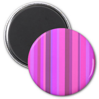 Pink vertical stripes magnet