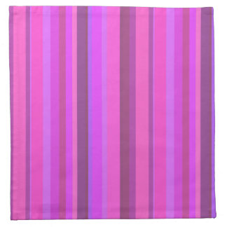 Pink vertical stripes napkin