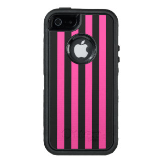 Pink Vertical Stripes OtterBox iPhone 5/5s/SE Case