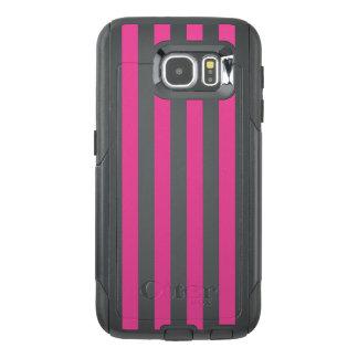 Pink Vertical Stripes OtterBox Samsung Galaxy S6 Case