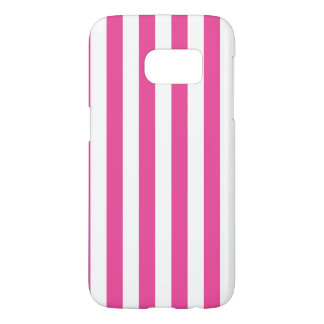 Pink Vertical Stripes Samsung Galaxy S7 Case