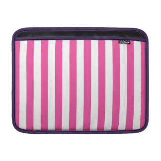 Pink Vertical Stripes Sleeve For MacBook Air