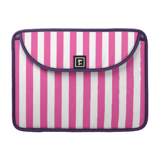 Pink Vertical Stripes Sleeve For MacBooks