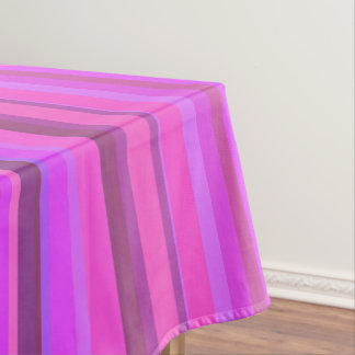 Pink vertical stripes tablecloth