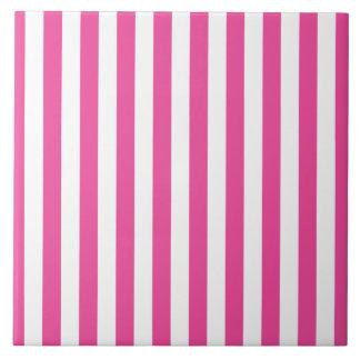 Pink Vertical Stripes Tile