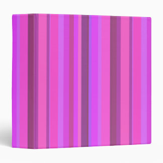 Pink vertical stripes vinyl binder