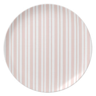 Pink Verticall Pinstripe Plate