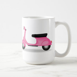 Pink Vespa coffee mug