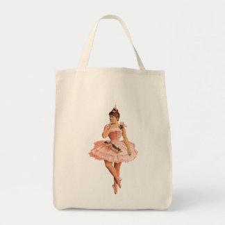 Pink Victorian Ballerina Tote Bag