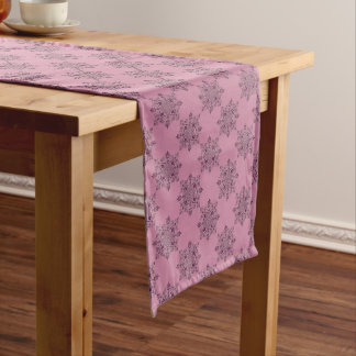 Pink Victorian Christmas Table Runner