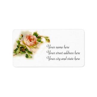 Pink Victorian Rose Label