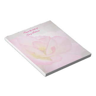 Pink Victorian Rose Notepad