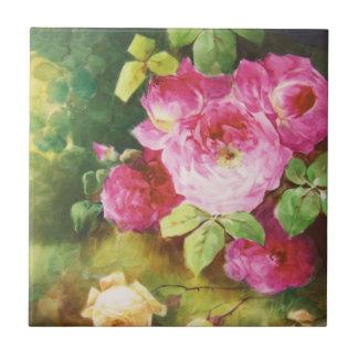 Pink Victorian Rose Tile