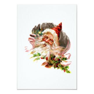 Pink Victorian Santa Claus Card