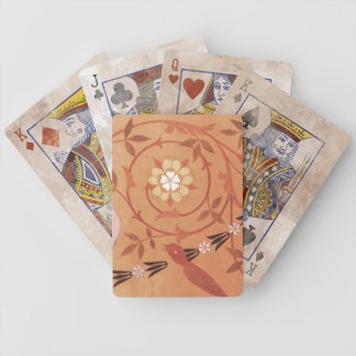Pink Vine and Vase Textile Bicycle Playing Cards