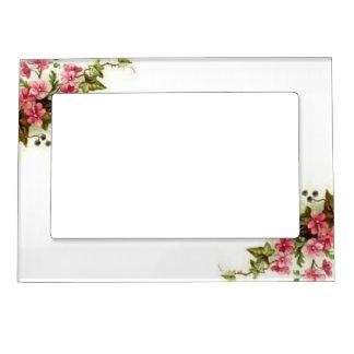 Pink Vintage Blossoms 5x7 Magnetic Frame