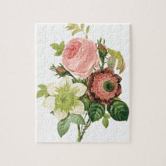Pink Vintage Bouquet Jigsaw Puzzle
