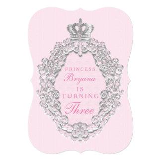 Pink Vintage Fairytale Princess Party Invitation