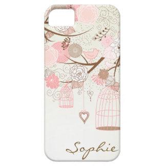 Pink Vintage Floral Birdcages Custom iPhone 5 Case