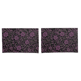Pink Vintage Floral Damask Pillowcases