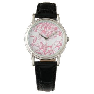 Pink Vintage Floral Watch