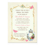Pink Vintage French Bridal Tea Party Personalized Invitations