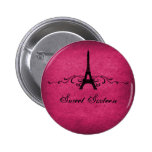 Pink Vintage French Flourish Sweet 16 Button