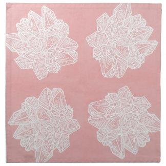 Pink Vintage Geode Pattern Cloth Napkin