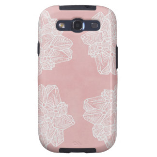 Pink Vintage Geode Pattern Samsung Galaxy S3 Covers