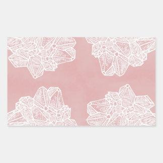 Pink Vintage Geode Pattern Sticker